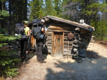 A tiny trapper's cabin along the way.