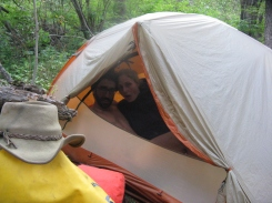 Respect a tent's privacy!