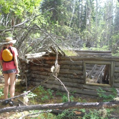 The first old cabin we discovered..