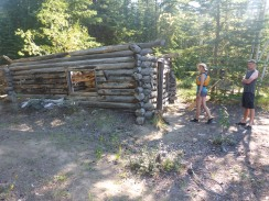 One of many, many old cabins along the river.