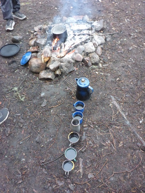 Our canoes run on dried food and coffee. Hot coffee is a beautiful sight around the campfire.