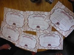 Our sourtoe certificates.