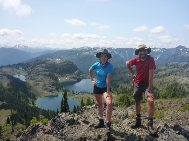 Mandatory Bourgeault hiking pose